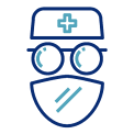 surgeon with face mask icon