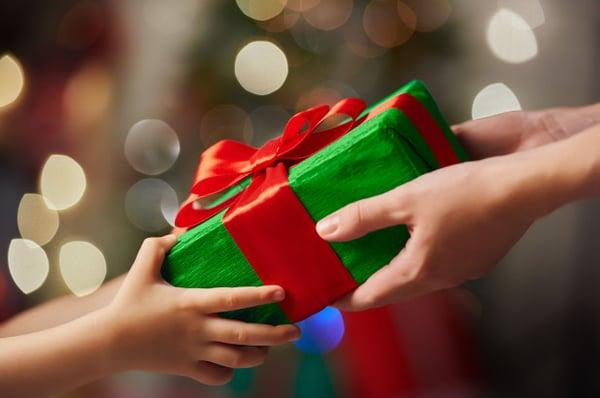 giving a christmas present