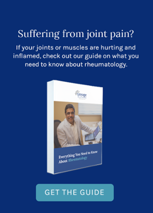 Suffering from joint pain? If your joints or muscles are hurting and inflamed, check out our guide on what you need to know about rheumatology. Get the Guide!